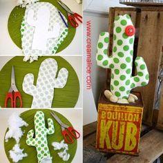 {DIY} Déco Cactus Tissu                                                                                                                                                                                 Plus