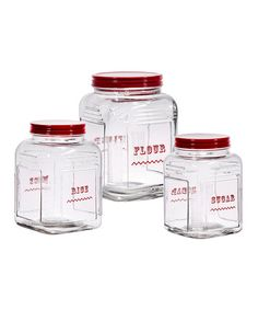 Love Square Glass Canisters like these vintage inspired ones, use them in the pantry  #zulily! #zulilyfinds