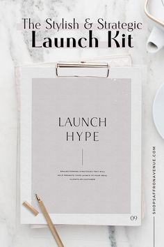This strategic launch kit includes a launch planner, a launch guide full of examples, AND over 15 customizable, stylish social templates and mockups. Whether you are launching a brand, your new website, a product, or a service, this stylish, yet comprehensive kit will walk you through every step of the way to achieve a successful launch. For more information on this kit, visit us at www.saffronavenue.com