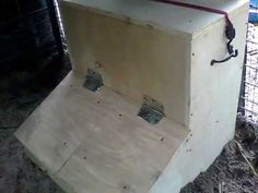 Brief description and explaination of a Gravity fed hog feeder built out of scrap materials. Gravity Feeder, Hog Farm, Grain Storage, Small Pigs, Animal Projects, Farm Projects, Pig Pen, The Barnyard, Showing Livestock