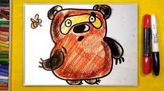 Как нарисовать Винни Пух, Урок рисования для детей от 3 лет | Раскраска...