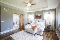 Azalea Parade Home - Master Bedroom with Brazilian Pecan Solid Hardwood Floors.