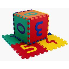 $21.99 - Edutile blocks are giant, washable, colorful, soft, interlocking tiles and numbers that make excellent play mats, storage boxes, tents, and creative games which makes it a great educational toy.TILE SIZE: 12 12 AND .5 THICKLooking For More Number Toys? See em all here!