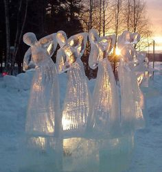 Ice sculpture at Christmas??