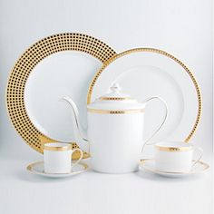 "Cup and Saucer - Bernardaud ""Athena"" Dinnerware Dinnerware Sets, China Dinnerware, Vase Deco, Elegant Dining, Dinner Sets, Decoration Table, Terracotta, Vases, Tea Pots"