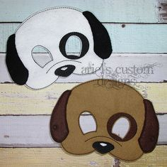 Puppy Mask - Dog Mask - Pet Shop Party - Felt Dress Up Masks - Birthday Party Favor Halloween by ArielsCustomDesigns on Etsy