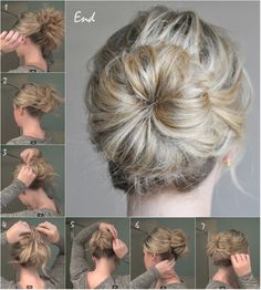 mid-knot hairstyle tutorial with clip on remy and cheap blonde hair extensions