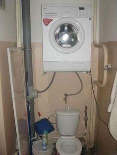 #Waschmaschine #Toilette #Bad #Modern #Bau #Pfusch #Hausbau #Beton #Witzig   #Schalung #Mauer #Mexico   #madeinusa  #Profi #Rumänien