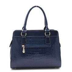 Coofit Alligator Pattern Shoulder Bag Patent Leather handbags for Women Wine Red: Handbags: Amazon.com