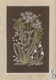 Spring No. 10322 Brown passe-partout with glass, dimensions 26 x 35 cm. Protected by copyright! Bobbin Lacemaking, Lace Art, Bobbin Lace Patterns, Embroidery On Clothes, Lace Jewelry, Needle Lace, Lace Making, Irish Crochet, Needlework
