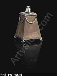 FABERGÉ Karl (Carl), 1846-1920 (Russia) Title : TABLE LIGHTER Date : ca 1890   Category : Luminaires Medium : : Silver mounted sandstone