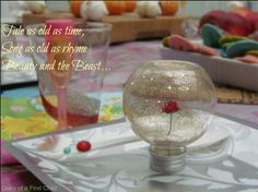 Beauty And The Beast Rose Table Decorations & Thank You Gifts | Diary of a First Child