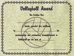Printable volleyball certificates volleyball awards personalized image result for volleyball tournament certificate yadclub Gallery