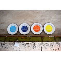 You Are My Sunshine Enamel Plate - Set of Four