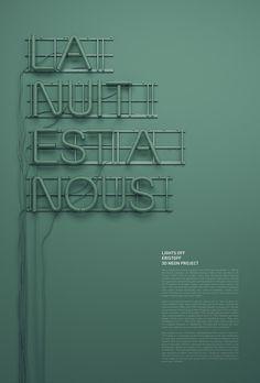 Typeworks #108 -3D Neon / Lights Off