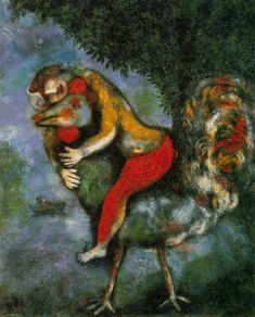 Marc Chagall ~ The Rooster, 1929