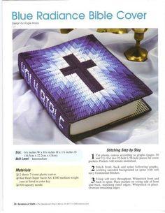 Plastic Canvas Bible Cover. Love the colour combination!