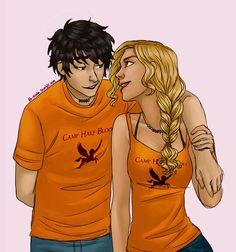 Percy x Annabeth / Percabeth art by ah-nada
