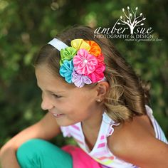 Rainbow Headbands Girls Headband Baby Girls by spoiledNsweet, $16.50
