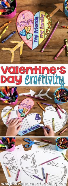 A Valentine's Day Craftivity where students reflect on what makes themselves, their friends, family and school special. This is the perfect classroom activity leading up to Valentine's Day. Valentines Day Activities, Valentines Day Party, Holiday Activities, Valentine Day Crafts, Holiday Crafts, Holiday Fun, Classroom Crafts, Holiday Classrooms, Classroom Ideas