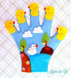 New baby art projects infants diy ideas Glove Puppets, Felt Puppets, Puppets For Kids, Felt Finger Puppets, Hand Puppets, Puppet Crafts, Felt Crafts, Art For Kids, Crafts For Kids