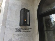Sheryl's Modern Stanmore Gas Lanterns, www.gaslanternsandlights.com 713.626.4001, Black Gas Lantern, Modern Gas Lights, Modern Gas Sconces, Modern Gas Lamps, Gas Lanterns, Gas Lights, Modern Exterior, Sconce Lighting, Candle Sconces, Modern Farmhouse, Building A House, Lamps, Candles