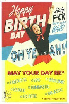 kaart happy birthday holy fuck youre aging well
