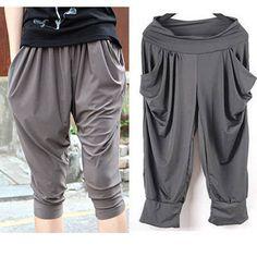 Summer Korean Big Code Women's Stretch Capri Pants / Harem Pants   eBay