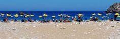 Achata beach, lined up with umbrellas Karpathos, Greek Islands, Umbrellas, More Photos, Greece, Beach, Water, Outdoor, Greek Isles