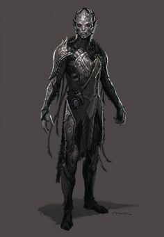 Concept art for Thor: The Dark World by Andy Park. I really like the ghoulish and eerie look the dark elves have in this movie.