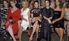 Pamela Anderson and Ashley Graham sat front row at Christian Siriano