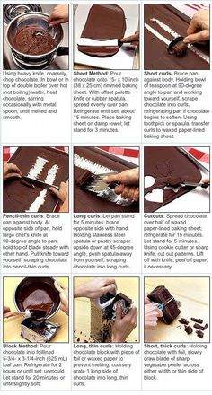 Comment faire des copeaux de chocolat / How to make chocolate curls Chocolate Work, Chocolate Curls, How To Make Chocolate, How To Temper Chocolate, Making Chocolate, Vegan Chocolate, Cake Decorating Techniques, Cake Decorating Tutorials, Cookie Decorating