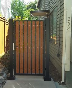 Pedestrian Gate With Combination Lock System Painted
