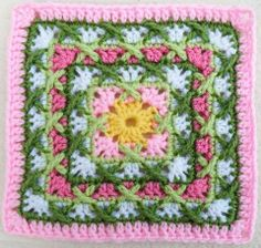 Intricate Crochet Square ~ I think I kind of love this one! Community Forums - p1 - Food.com
