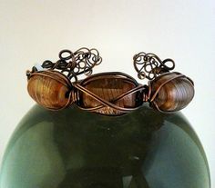 Antiqued Celtic Style Wire Wrapped Copper Bracelet by MysticMetalDesigns on Etsy