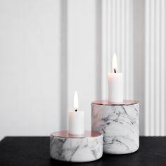 Menu Kerzenständer Chunk of Marble, 9cm #artvoll #Trend #Marmor www.artvoll.de