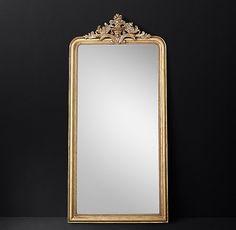 "Louis Philippe Gilt Leaner Mirror - 55"" X 116"""