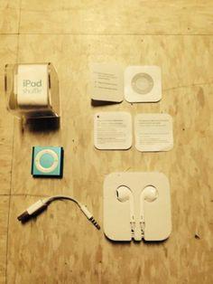 New Apple Earphone & Used ipod Shuffle Sky Blue 2GB 4th Generation