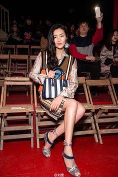 Liu wen Milan Fashion week 2016 Prada