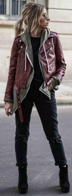 """Gosto dessa ideia de usar """"mix"""" de casacos, fica fácil fazer o básico ficar mais interessante."""