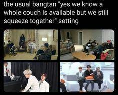 Bts Memes Hilarious, Bts Funny Videos, Namjoon, Seokjin, Hoseok, Taehyung, Bts Lyrics Quotes, Bts Tweet, Bts Book