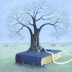 """bibliolectors:  """"El largo camino de las palabras: de la escritura a la lectura (ilustración de Soizick Meister)  """""""