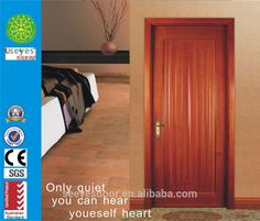 natural wood solid bed room interior wood HDF door