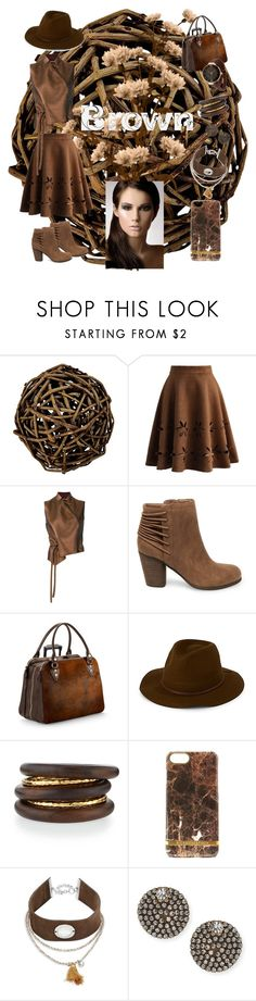"""The Brownies"" by allyssister ❤ liked on Polyvore featuring Pier 1 Imports, Chicwish, Ann Demeulemeester, Steve Madden, Aspinal of London, Brixton, NEST Jewelry, Richmond & Finch, Design Lab and Auden"