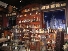"New Orleans Pharmacy Museum - 514 Chartres St.  Est. in 1816 by Louis Dufilho, the nation's first licensed pharmacist. His practices would be considered somewhat ""suspect"" today. Apparently he still hangs around the place, as the U.S. Department of Commerce has it listed as an official haunted site."