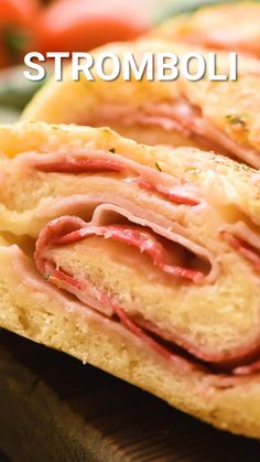 Stromboli is a quick and easy dinner recipe that is a fun twist on pizza. You can use pizza crust or bread dough and then stuff it with ham, pepperoni and cheese. Bake it and dip it in marinara sauce for a family friend meal! Pizza Stromboli, Pizza Calzone Recipe, Homemade Stromboli, Cheese Calzone Recipe Ricotta, Italian Sausage Stromboli Recipe, Easy Stromboli Recipe, Ham And Cheese Stromboli Recipe, Bread Dough Recipe, Baguette