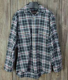 Great Outdoor Moose Creek M size Mens Heavy Cotton Shirt Black Gray Plaid