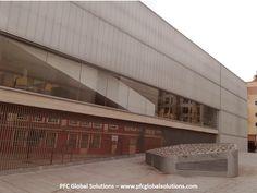 PFC Global Solutions: lateral edificio biblioteca Mercado Barceló