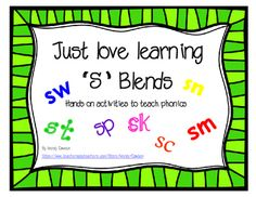 These S blend activities are great for teaching phonics, spelling, reading and vocabulary! The vocabulary aspect is especially useful for young children, ESL and Special education students.This packet includes:Choose the correct S blend page5 Cut, sort and paste R blends pagesMini books for each of the S blends (sc, sk, sm, sn, sp, st, & sw - 2 books per page50 color cards for sorting by the correct S blend.