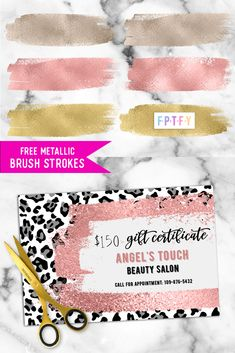 12 Free Metallic Brush Strokes - Free Pretty Things For You Printable Labels, Free Printables, Angels Touch, Book Wallpaper, Digital Ink, Free Digital Scrapbooking, Free Stuff, Brush Strokes, Paper Dolls